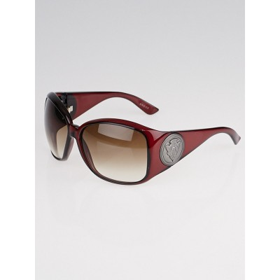 Gucci Red Frame GG Crest Sunglasses-3027/S