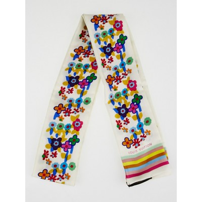 Louis Vuitton Multicolor Floral Silk Bandeau Scarf