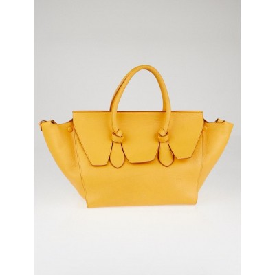 Celine Saffron Calfskin Leather Medium Tie Tote Bag