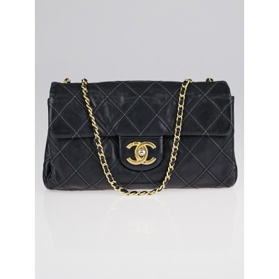 Chanel Black Quilted Leather Thin City Small Flap Bag