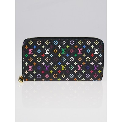 Louis Vuitton Black Multicolore Monogram Zippy Wallet