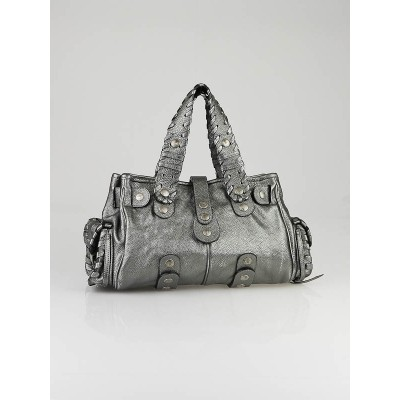 Chloe Anthracite Leather Large Silverado Bag