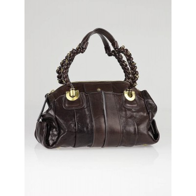 Chloe Moka Leather Heloise Large Shoulder Bag