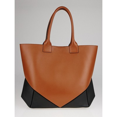 Givenchy Black/Brown Lambskin Leather Easy Medium Tote Bag