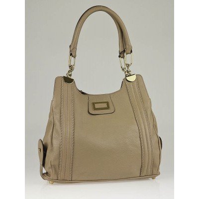 Chloe Taupe Leather Small Shoulder Bag