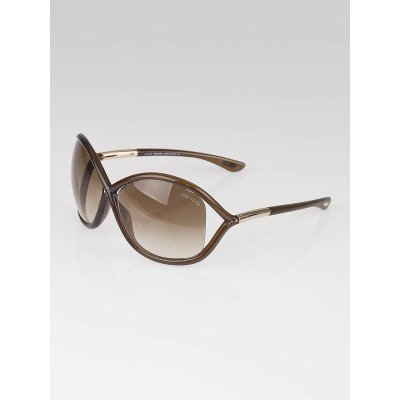 Tom Ford Brown Frame Gradient Tint Whitney Sunglasses- TF9