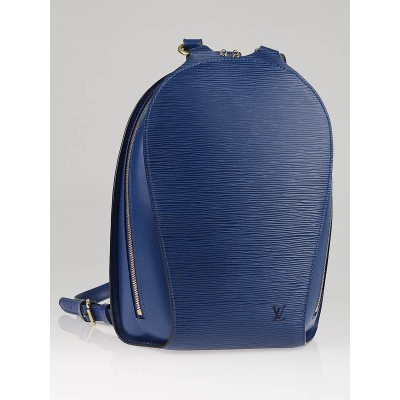 Louis Vuitton Toledo Blue Epi Leather Mabillon Backpack Bag