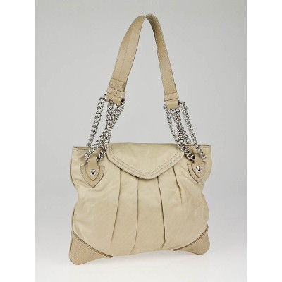 Marc Jacobs Putty Leather Mix Quilted Rosen Bag