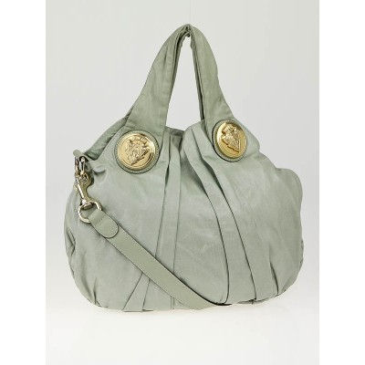 Gucci Sage Green Leather Hysteria Small Top Handle Bag