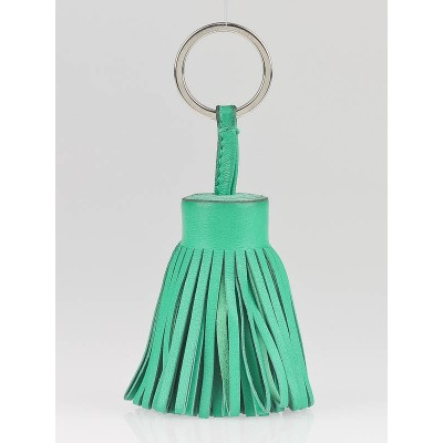 Hermes Kelly Green Lambskin Leather Carmen Key Ring
