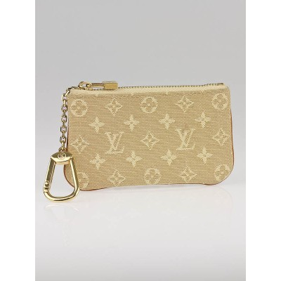 Louis Vuitton Beige Monogram Mini Lin Pochette Cles Key and Change Holder