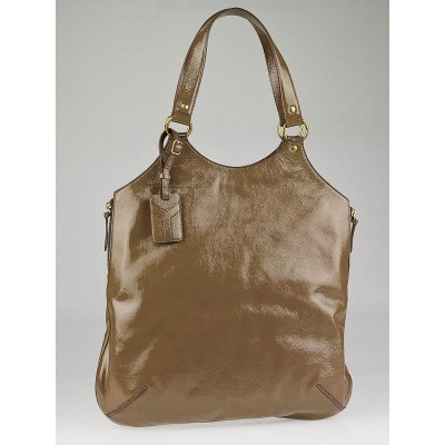 Yves Saint Laurent Nude Patent Leather Large Tribute Bag