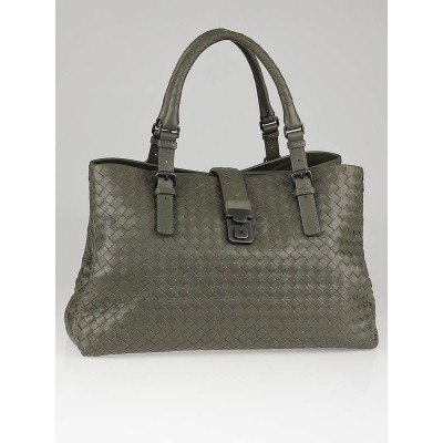Bottega Veneta Shadow Intrecciato Nappa Leather Roma Tote Bag