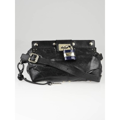 Chloe Blue Nuit Leather Plexo Paddington Messenger Bag