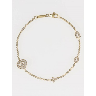 Chopard 18k Gold Happy Diamonds 'I Love You' Bracelet