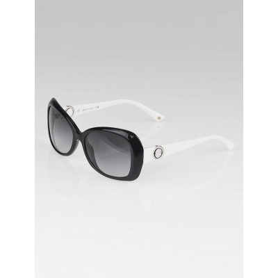 Chanel White/Black Frame Button Collection Sunglasses-5148