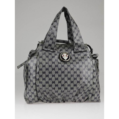 Gucci Navy Blue GG 'Crystal' Hysteria Medium Tote Bag