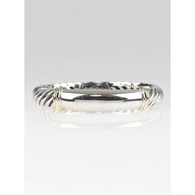 David Yurman Sterling Silver and 18k Gold Metro Kick Bracelet