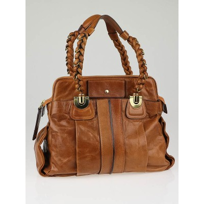 Chloe Nutmeg Calfskin Leather Heloise Large Satchel Bag