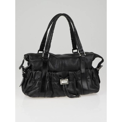 Burberry Black Leather Curzon Satchel Bag