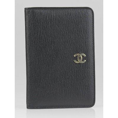 Chanel Black Leather CC Card Holder Wallet