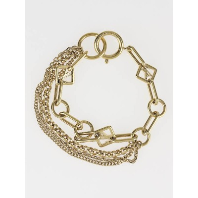 Louis Vuitton Goldtone Las Vegas Chain Bracelet