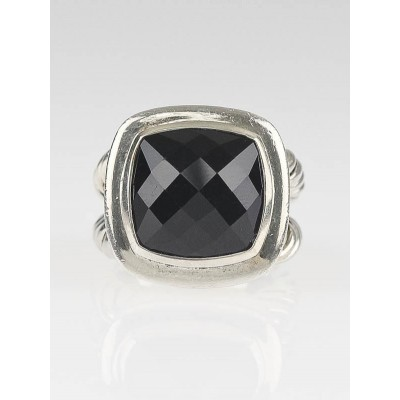 David Yurman 14mm Onyx and Sterling Silver Albion Ring 6