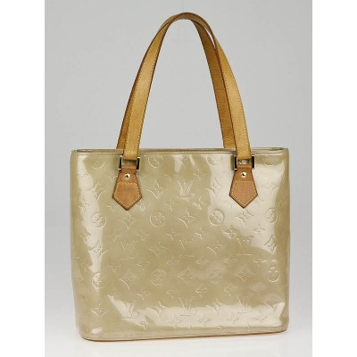 Louis Vuitton Beige Monogram Vernis Houston Tote Bag
