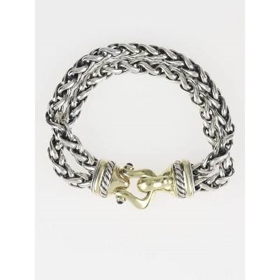 David Yurman Double Sterling Wheat Chain Bracelet