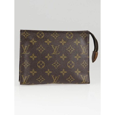 Louis Vuitton Vintage Monogram Canvas Poche Toilette 19 Cosmetic Pouch