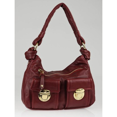 Marc Jacobs Merlot Leather Mercer Sofia Hobo Bag