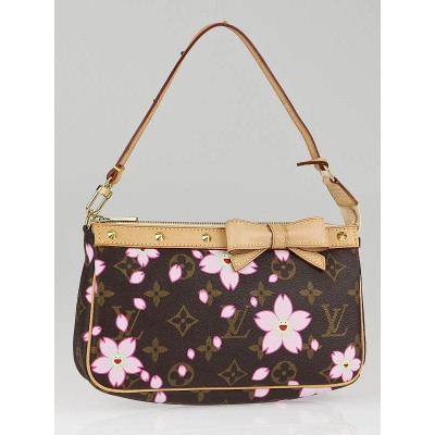 Louis Vuitton Cherry Blossom Monogram Canvas Accessories Pochette Bag