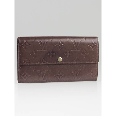 Louis Vuitton Purple Monogram Mat Sarah Wallet
