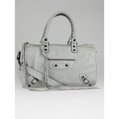 Balenciaga Gris Ciment Lambskin Leather Maxi Twiggy Bag