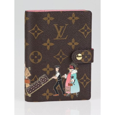 Louis Vuitton Limited Edition Monogram Canvas Illustre Small Agenda Notebook