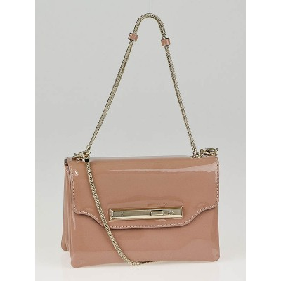 Valentino Blush Patent Leather Small Crossbody Bag
