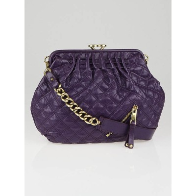 Marc Jacobs Purple Quilted Leather Bonnie Bag