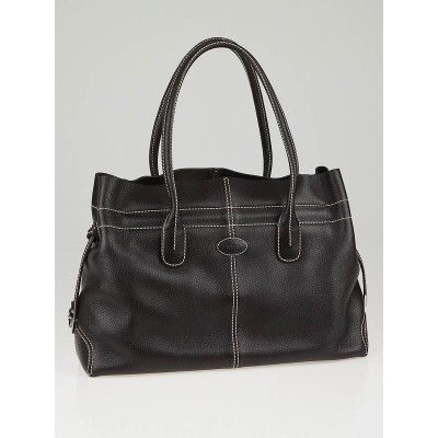 Tod's Chocolate Leather D-Bag Media Bag