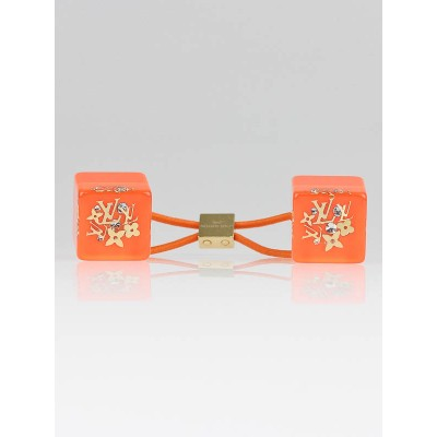 Louis Vuitton Orange Resin Inclusion Hair Cube