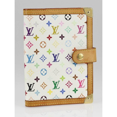 Louis Vuitton White Monogram Multicolore Small Ring Agenda