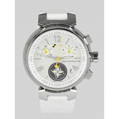 Louis Vuitton 34mm White Tambour Lovely Cup Quartz Watch