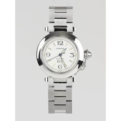 Cartier 35mm Stainless Steel Pasha C Automatic Watch W31074M7