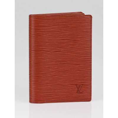 Louis Vuitton Fawn Epi Leather Passport Holder Wallet