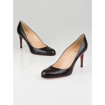 Christian Louboutin Brown Leather Simple 85 Pumps Size 9.5/40