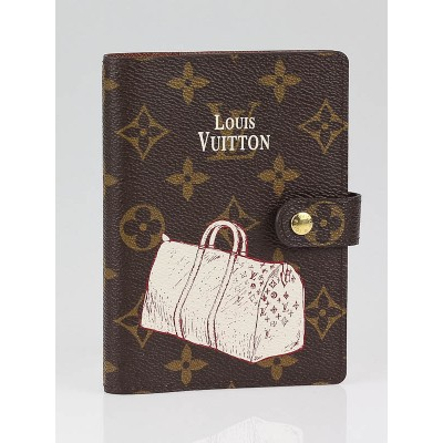 Louis Vuitton Limited Edition Monogram Canvas PM Keepall Small Ring Agenda Cover