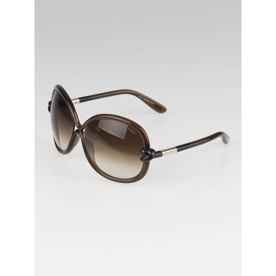 Tom Ford Brown Frame Gradient Tint Ingrid Sunglasses-TF163
