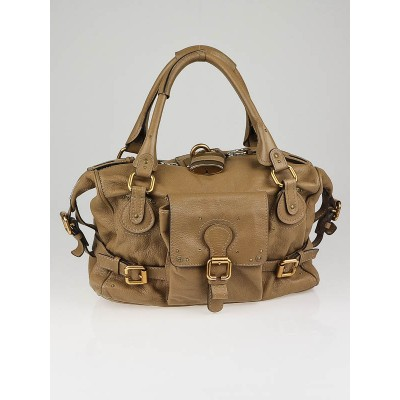Chloe Tan Leather Front Pocket Paddington Satchel Bag