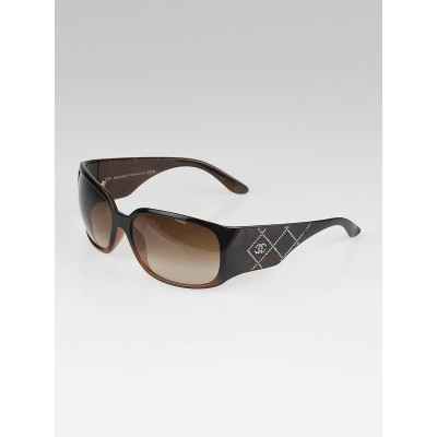Chanel Black/Brown Swarovski Crystal Sunglasses 5080-B