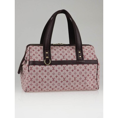 Louis Vuitton Cherry Red Mini Lin Canvas Josephine GM Bag