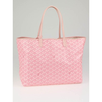 Goyard Pink Chevron Coated Canvas St. Louis PM Tote Bag